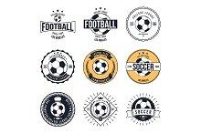Soccer Football Typography Badge