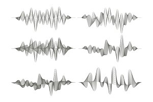 Set of sound waves.
