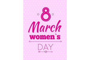Abstract Eight Symbol, Best Wishes on Women's Day