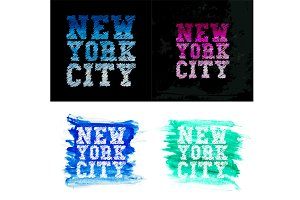Vintage new york typography t-shirt