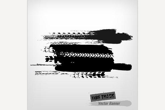 Grunge Tire Banner