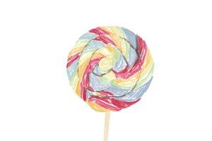 Illustration of hand drawn lollipop