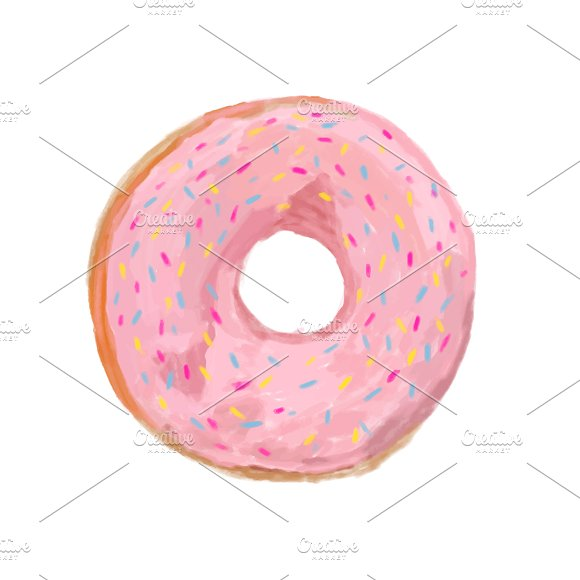 Illustration Of Hand Drawn Donut