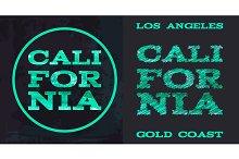 California surf typography t-shirt