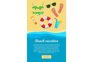 Beach Vacation Banner