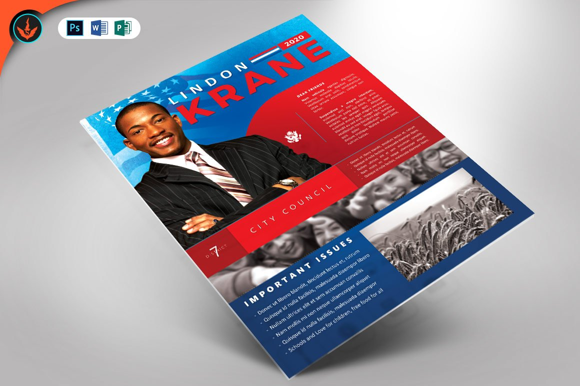 political candidate flyer template flyer templates creative market