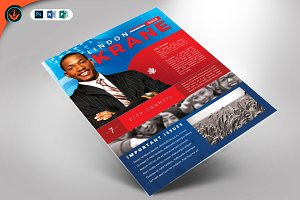vision political flyer template flyer templates creative market