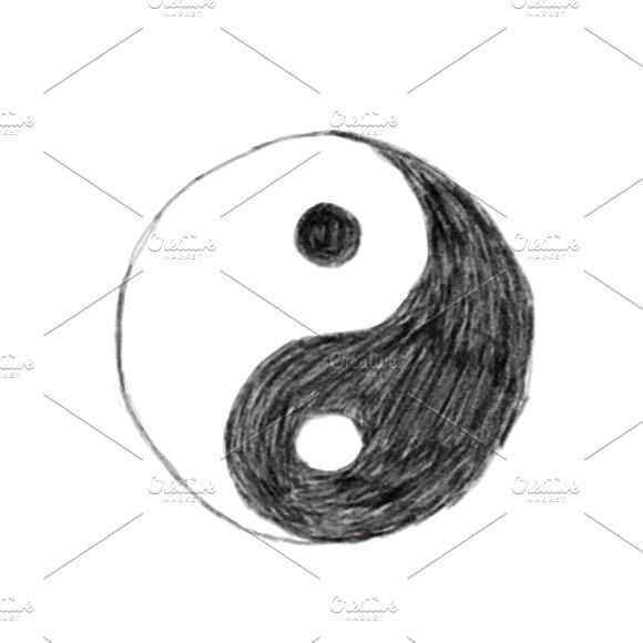 Illustration Of Hand Drawn Yin Yang