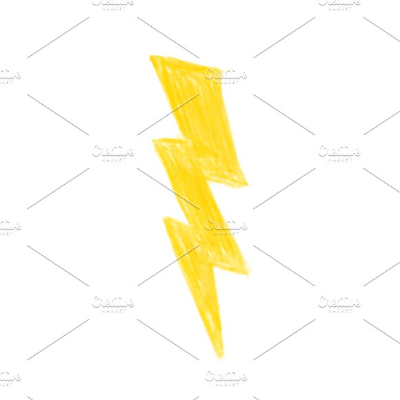 Illustration Of Hand Drawn Lightning