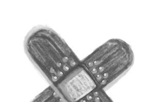 Illustration of hand drawn bandage