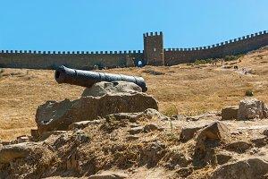 Sudak fortress cannon.