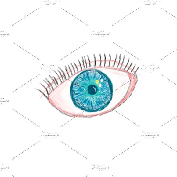 Illustration Of Hand Drawn Eye