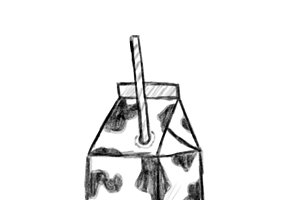 Illustration of hand drawn milk