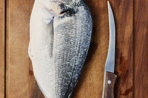 Healthy fresh raw fish