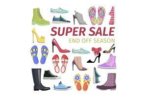 Super Sale. End off Season. Big Shoes Collection