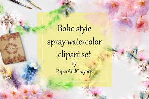 Boho-Chic Sakura Watercolor Set