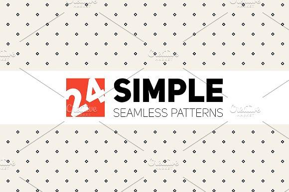 Simple Seamless Patterns. Set 1 - Patterns