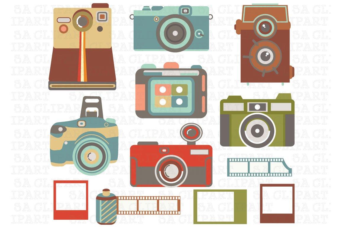 Vintage Camera ClipArt | Custom-Designed Illustrations ...