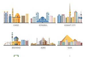 Eastern capitals cityscapes