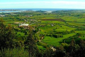 Panoramic view from Peña Cabarga