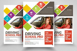 Driving School Flyers Templates