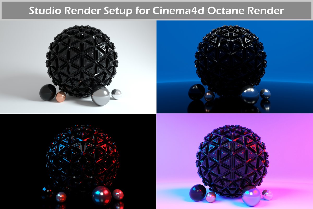 Octane Render Studio Setup for C4D ~ Environments ~ Creative Market