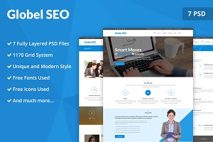 Globel SEO PSD Website Template