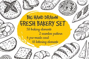 Fresh bakery set