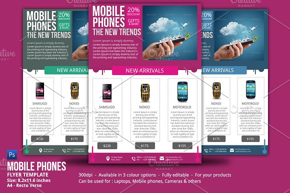 mobile phones sales flyer flyer templates creative market