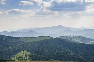 Slovakian mountains in summer.