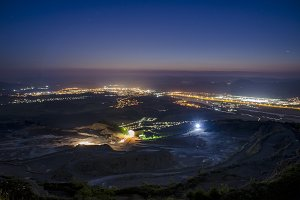 Night view from Slovakian mountains.