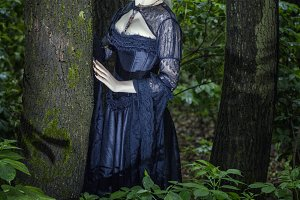 Woman in the forest.