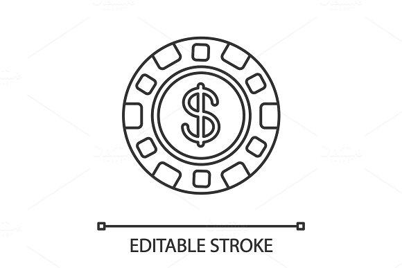 Casino Chip Linear Icon