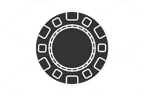 Casino Chip Glyph Icon