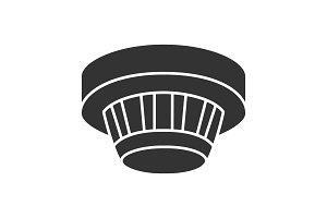 Smoke detector glyph icon