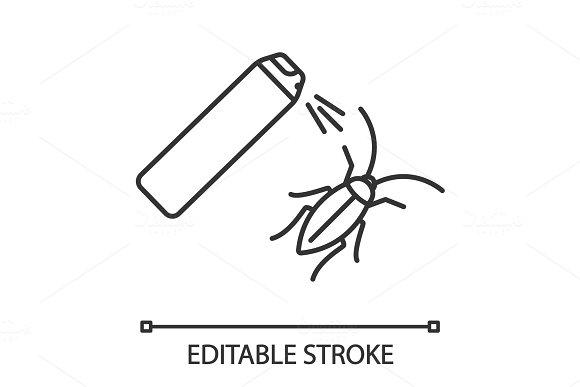 Roaches Bait Linear Icon