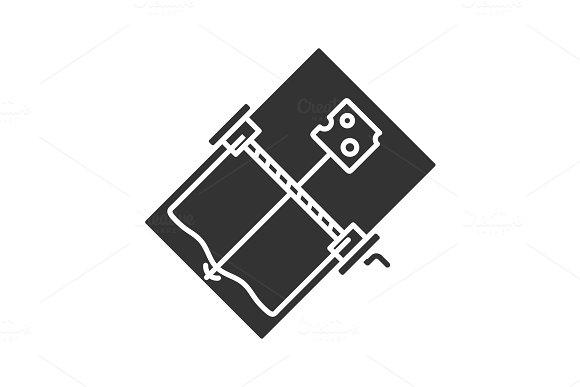 Mouse trap glyph icon