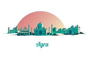 AGRA city illustration