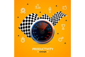 Motivation Concept with Speedometer