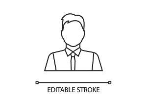 Office worker linear icon
