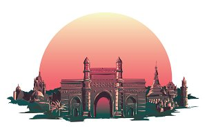 BOMBAY city illustration