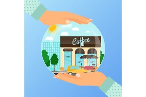 Business concept for opening coffee cafe