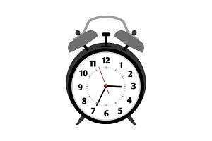 Classical black alarm clock