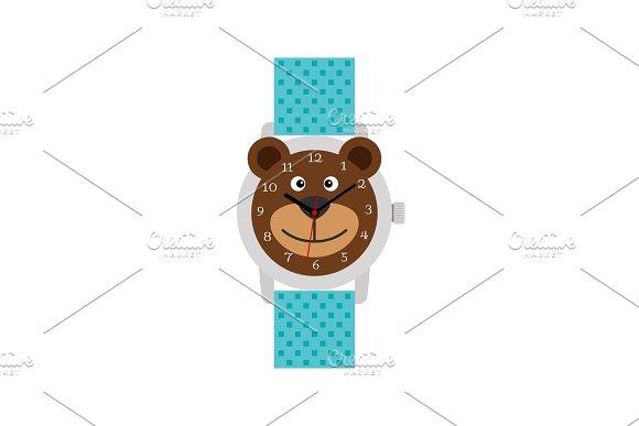 Cute Blue Bear Watch For Kids