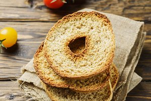 Traditional italian bread frisella
