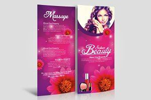 Beauty Salon Spa Rack Card Template