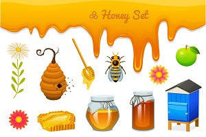 Honey, Organic, Natural Farm Food.