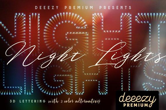 Night Lights 3D Lettering