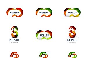 Infinity and loop company logos