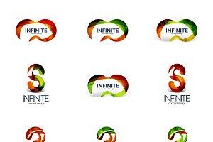 Infinity and loop company logos